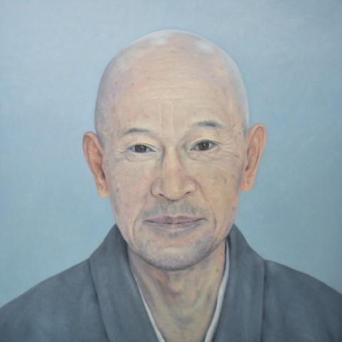 Shunryu Suzuki - Oil on Canvas