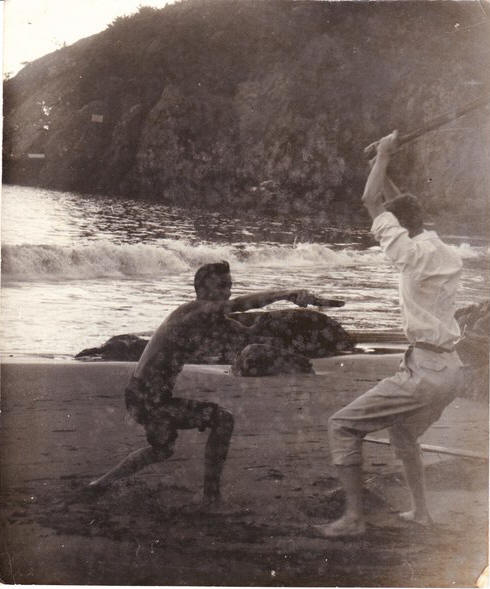 Grahame and Richard Baker at Muir Beach long ago